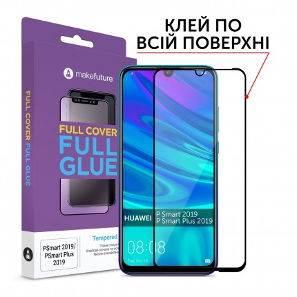 Захисне скло MakeFuture Full Cover Full Glue Huawei P Smart 2019 / P Smart Plus 2019