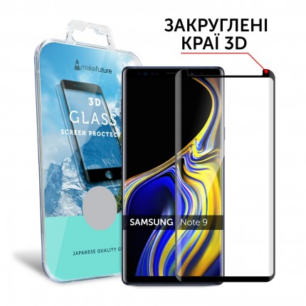 Захисне скло MakeFuture 3D Samsung Note 9 Black