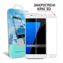 Захисне скло MakeFuture 3D Samsung S7 White