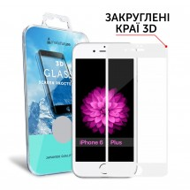 Захисне скло MakeFuture 3D Apple iPhone 6/6s Plus White