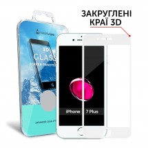 Захисне скло MakeFuture 3D Apple iPhone 7 Plus White