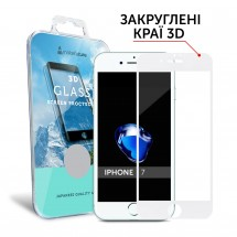 Захисне скло MakeFuture 3D Apple iPhone 7 White