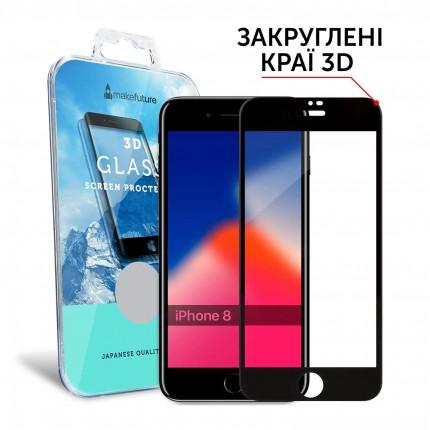Захисне скло MakeFuture 3D Apple iPhone 8 Black