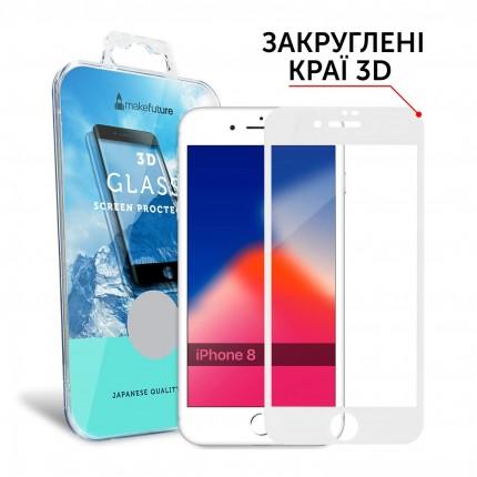 Захисне скло MakeFuture 3D Apple iPhone 8 White