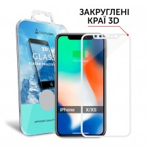 Захисне скло MakeFuture 3D Apple iPhone X/XS White