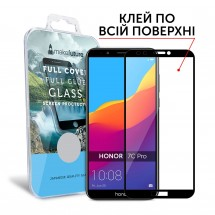 Захисне скло MakeFuture Full Cover Full Glue Honor 7C Pro Black