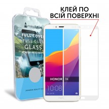 Захисне скло MakeFuture Full Cover Full Glue Honor 7A White