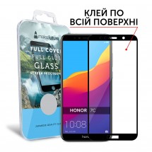 Захисне скло MakeFuture Full Cover Full Glue Honor 7C Black