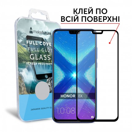 Захисне скло MakeFuture Full Cover Full Glue Honor 8X Black