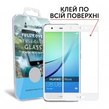 Захисне скло MakeFuture Full Cover Full Glue Huawei Nova White
