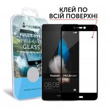 Захисне скло MakeFuture Full Cover Full Glue Huawei P8 Lite 2017 Black