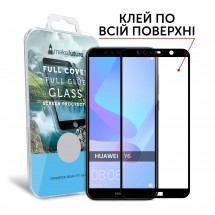 Захисне скло MakeFuture Full Cover Full Glue Huawei Y6 2018 Black
