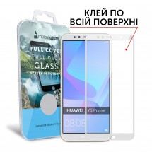 Захисне скло MakeFuture Full Cover Full Glue Huawei Y6 Prime 2018 White
