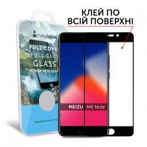 Захисне скло MakeFuture Full Cover Full Glue Meizu M6 Note Black