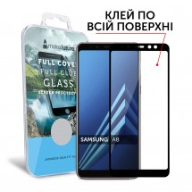 Захисне скло MakeFuture Full Cover Full Glue Samsung A8 2018 Black
