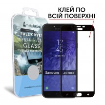 Захисне скло MakeFuture Full Cover Full Glue Samsung J4 (2018) Black