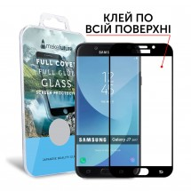 Захисне скло MakeFuture Full Cover Full Glue Samsung J7 2017 (J730) Black