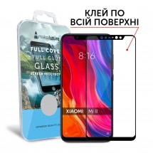 Захисне скло MakeFuture Full Cover Full Glue Xiaomi Mi8 Black