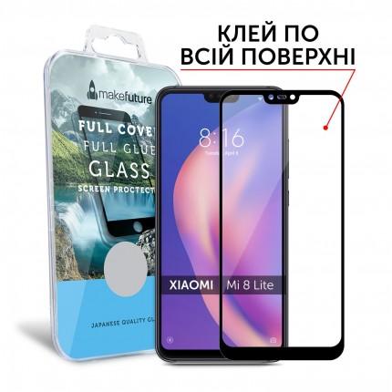 Захисне скло MakeFuture Xiaomi Mi8 lite Full Cover Full Glue Black