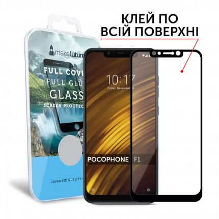 Захисне скло MakeFuture Full Cover Full Glue Xiaomi Pocophone F1 Black
