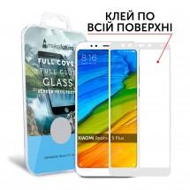 Захисне скло MakeFuture Xiaomi Redmi 5 Plus Full Cover Full Glue White