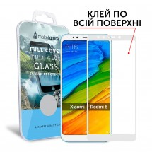 Захисне скло MakeFuture Full Cover Full Glue Xiaomi Redmi 5 White