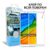 Захисне скло MakeFuture Xiaomi Redmi 5 Full Cover Full Glue White