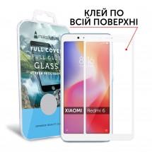 Захисне скло MakeFuture Xiaomi Redmi 6 Full Cover Full Glue White
