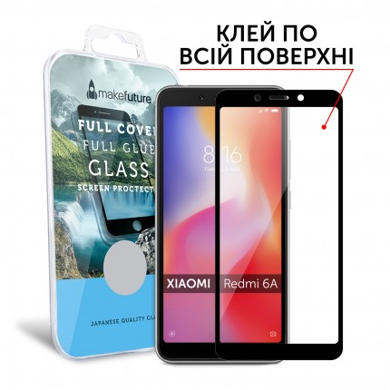 Захисне скло MakeFuture Xiaomi Redmi 6A Full Cover Full Glue Black
