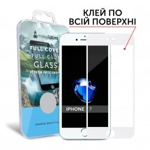 Захисне скло MakeFuture Full Cover Full Glue Apple iPhone 7 White
