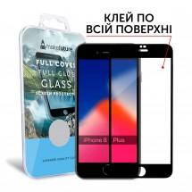 Захисне скло MakeFuture Full Cover Full Glue Apple iPhone 8 Plus Black