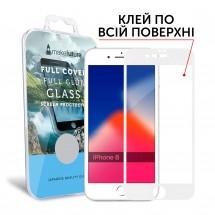 Захисне скло MakeFuture Full Cover Full Glue Apple iPhone 8 White