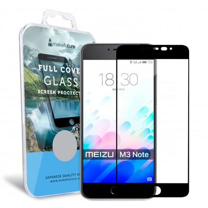 Захисне скло MakeFuture Full Cover Meizu M3 Note Black