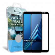 Захисне скло MakeFuture Full Cover Samsung A8 2018 Black
