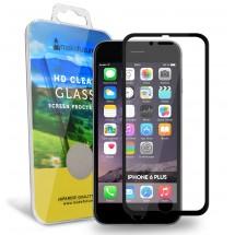 Захисне скло MakeFuture Apple iPhone 6/6S Plus Metal Edge Black