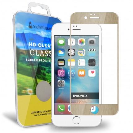 Захисне титанове скло MakeFuture Apple iPhone 6/6S Gold