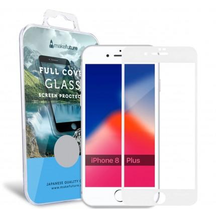Захисне скло MakeFuture Full Cover Apple iPhone 8 Plus White