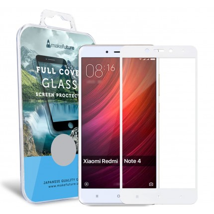 Захисне скло MakeFuture Full Cover Xiaomi Redmi Note 4 White