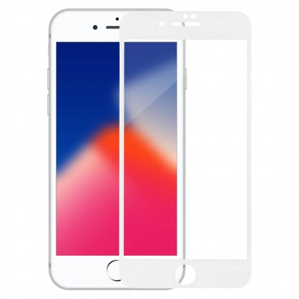 Захисне скло MakeFuture Full Cover Full Glue Apple iPhone 8 Plus White