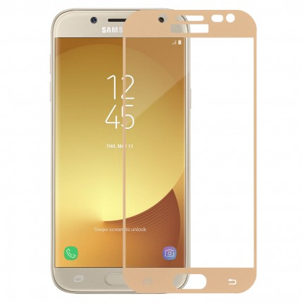 Захисне скло MakeFuture Full Cover Full Glue Samsung J5 2017 (J530) Gold