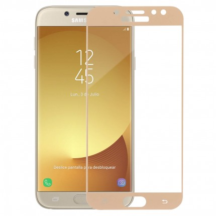 Захисне скло MakeFuture Full Cover Samsung J7 2017 (J730) Gold