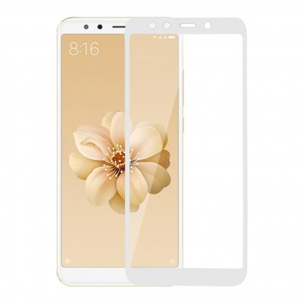 Захисне скло MakeFuture Full Cover Full Glue Xiaomi MiA2 (Mi6X) White