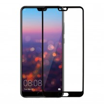 Захисне скло MakeFuture Full Cover Full Glue Huawei P20 Black