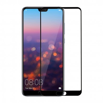 Захисне скло MakeFuture Full Cover Full Glue Huawei P20 Pro Black