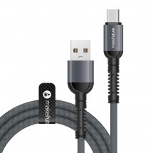 USB-Кабель MakeFuture Type-C (3A) Denim Grey 1м