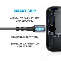 USB-Кабель MakeFuture Type-C (3A) Denim Grey 1м