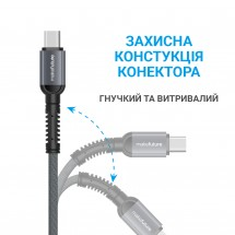 USB-Кабель MakeFuture Type-C (2.4 A) Denim Grey 1м