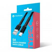 USB-Кабель MakeFuture Type-C (5A) Denim Grey 1м