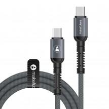 USB-Кабель MakeFuture Type-C/Type-C PD 1м Denim Grey