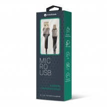 USB-Кабель MakeFuture MicroUSB (2.4A) Denim Grey 1м